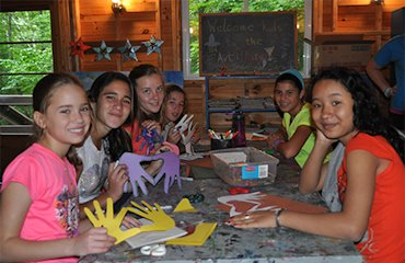 Arts and Crafts at Sleep Away Summer Camp for Girls Adirondacks New York