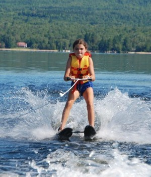Learn to waterski and sail at girls leadership camp in New York