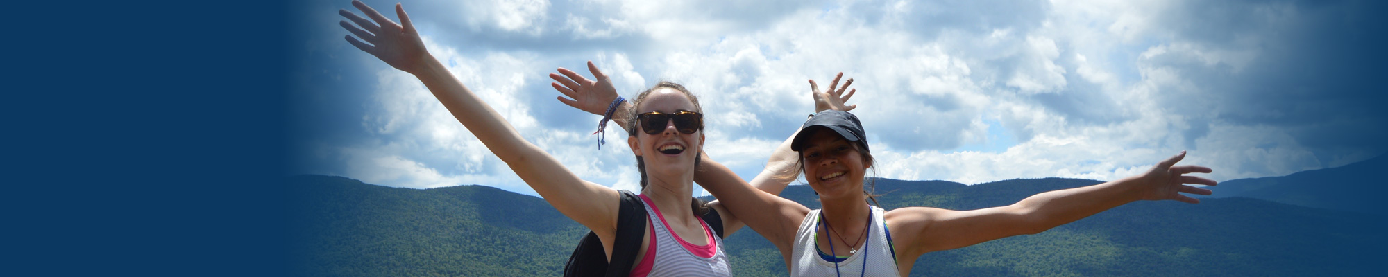 Hiking at Camp Jeanne d'Arc Summer Camp for Girls in the Adirondacks