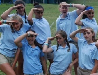 Bluebird Cabin Salutes at Camp Jeanne 'Arc Sleep Away Summer Camp for Girls, NY