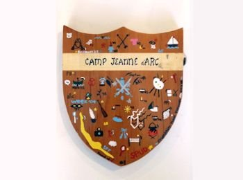 Handcrafted Camp Jeanne d'Arc Shield Summer Camp for Girls, NY