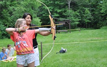Learn to do Archery at Camp Jeanne d'Arc for Girls, Overnight Summer Camp in New York