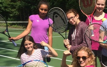 Play Tennis and Sports at Camp Jeanne d'Arc NY, All Girls Sleepaway Camp