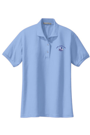 Women's silk touch, polo with embroidered CJDA logo on left side