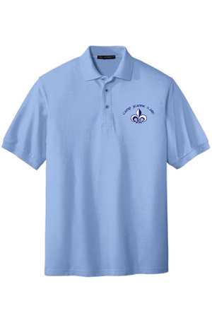 Youth silk touch, polo with embroidered CJDA logo on left side