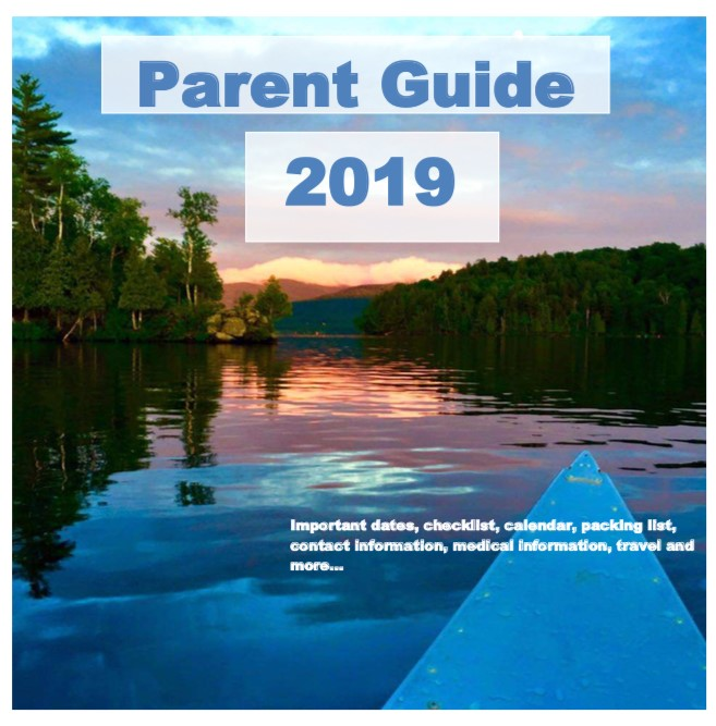2019 Parent Guide, featuring expectations of attending the best overnight summer camp in NY