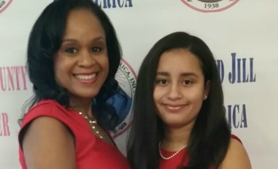 Mother and daughter, recognized at a middle school summer camp