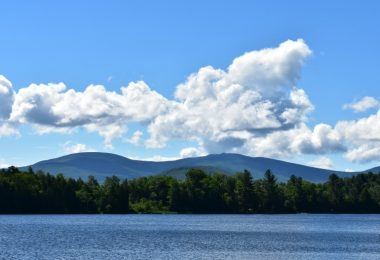 Landscape view of Lake Chateaugay