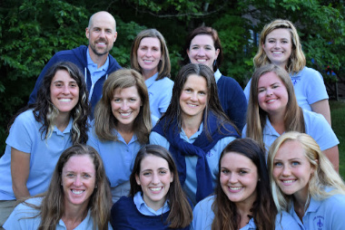 Directors and staff of Camp Jeanne d'Arc, a summer camp for girls, grouped together
